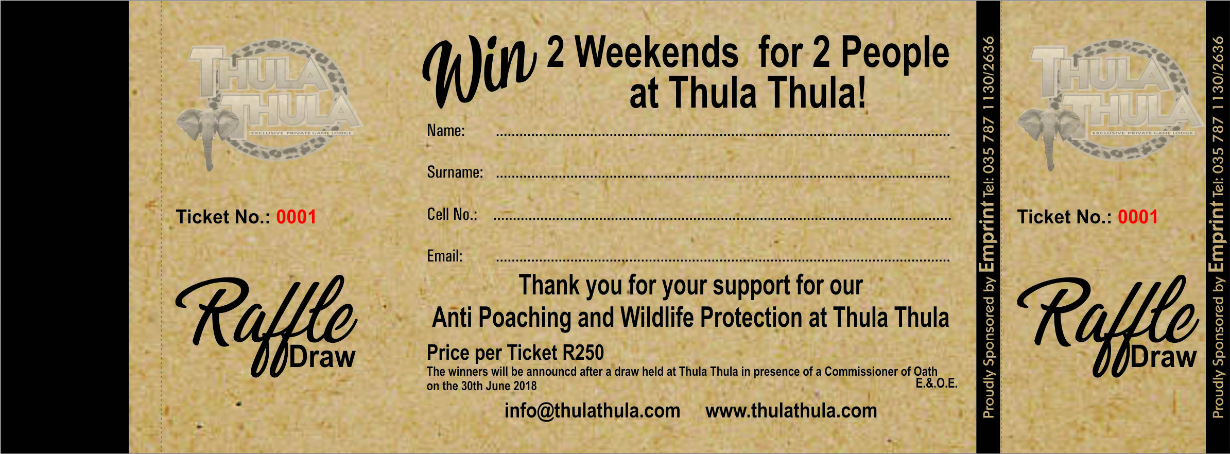 raffle tickets now available thula thula best south african safari
